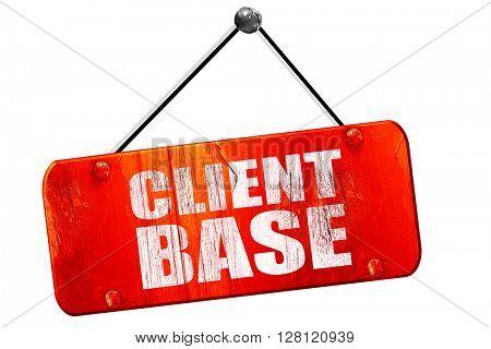 client base, 3D rendering, vintage old red sign