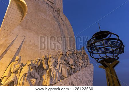 Monument to the Discoveries in Belem in Portugal