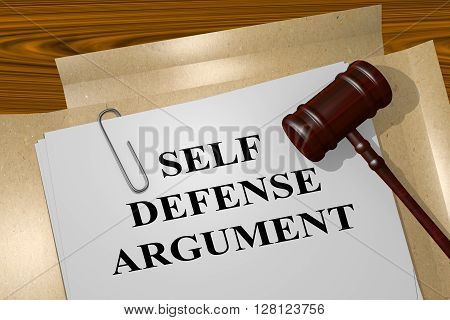 Self Defense Argument Concept