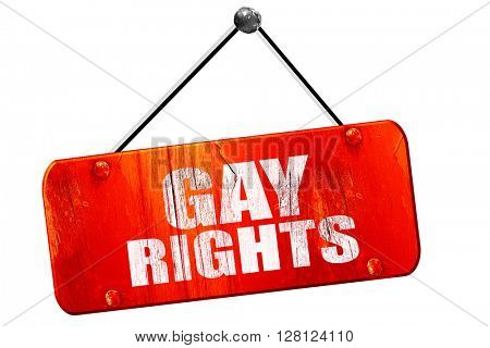 gay rights, 3D rendering, vintage old red sign