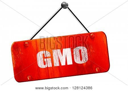 gmo, 3D rendering, vintage old red sign
