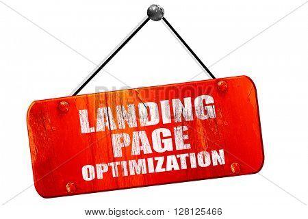 landing page optimization, 3D rendering, vintage old red sign