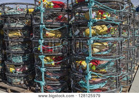 The Lobster trap on the Pacific shore