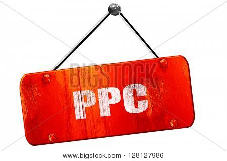 ppc, 3D rendering, vintage old red sign