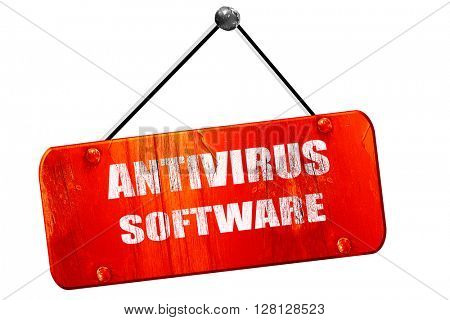 Malware computer , 3D rendering, vintage old red sign