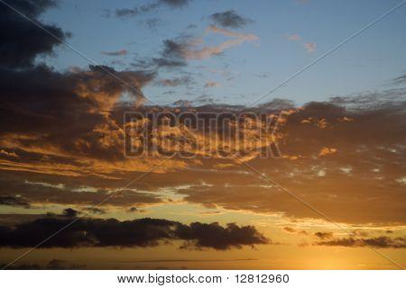 Sunset sky over Kihei, Maui, Hawaii, USA.