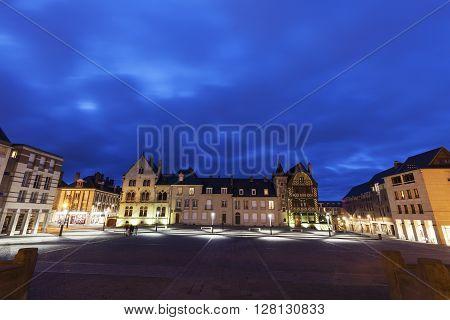 Place Notre-Dame in Amiens. Amiens Nord-Pas-de-Calais-Picardy France.