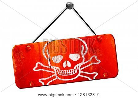 Poison sign , 3D rendering, vintage old red sign