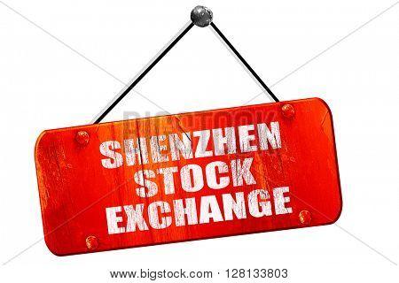 shenzhen stock exchange, 3D rendering, vintage old red sign