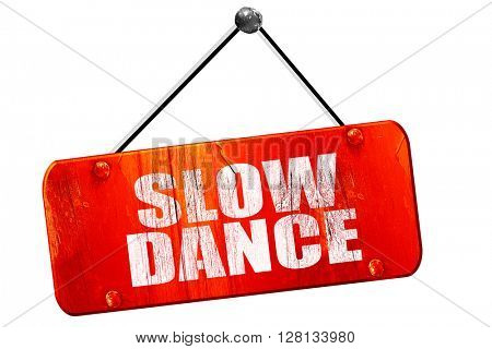 slow dance, 3D rendering, vintage old red sign