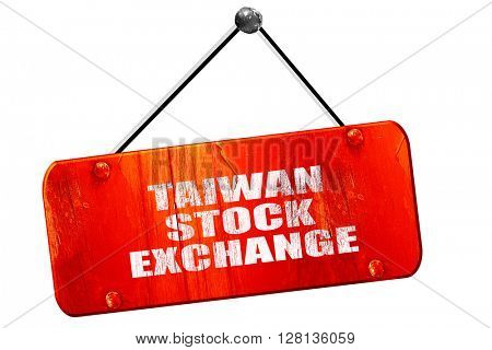 taiwan stock exchange, 3D rendering, vintage old red sign