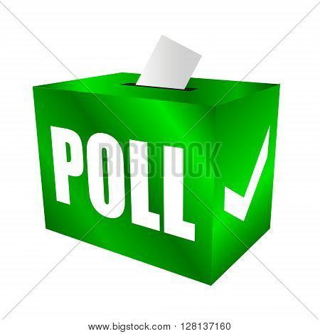 Cast your vote. Poll box for votes, survey reponses or answers to questions