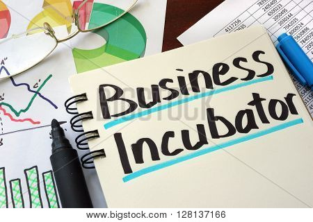 Business Incubator written on a notepad with marker.
