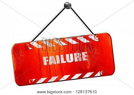 Failure sign with some smooth lines, 3D rendering, vintage old r