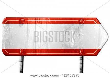 Austrian flag, 3D rendering, road sign on white background