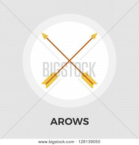 Arows Icon Vector. Flat icon isolated on the white background. Editable EPS file. Vector illustration.