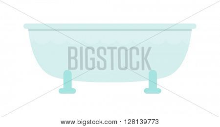 Bath isolated vector illustration.