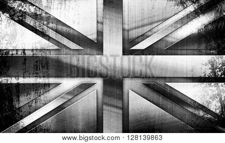 grunge Metal Flag Of British