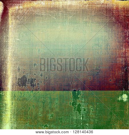 Grunge texture, aged or old style background with retro design elements and different color patterns: yellow (beige); brown; red (orange); purple (violet); pink; cyan