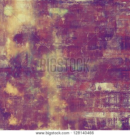 Art vintage texture for background in grunge style. With different color patterns: yellow (beige); brown; blue; red (orange); purple (violet); pink