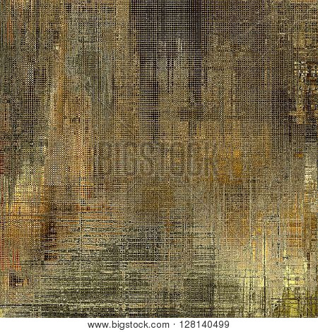 Old abstract texture used as shabby grungy background. With different color patterns: yellow (beige); brown; gray; black
