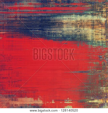 Retro design on grunge background or aged faded texture. With different color patterns: brown; blue; red (orange); purple (violet); pink; cyan