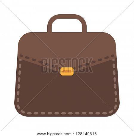 Businessman bag icon vector illustration.