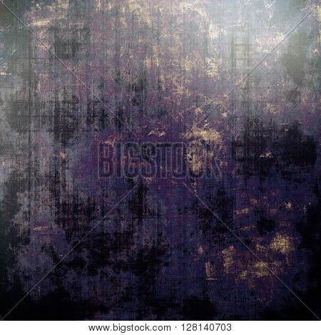 Creative grunge background in vintage style. Faded shabby texture with different color patterns: brown; gray; blue; purple (violet); black