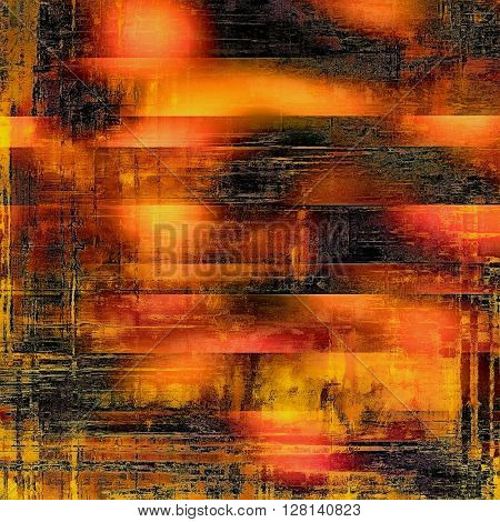 Background with grunge elements on vintage style old texture. With different color patterns: yellow (beige); brown; gray; red (orange); pink; black