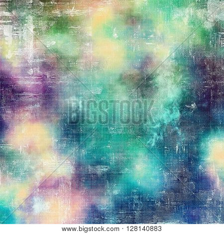 Vintage textured background with copy space. Old style backdrop with different color patterns: yellow (beige); green; blue; purple (violet); cyan; white