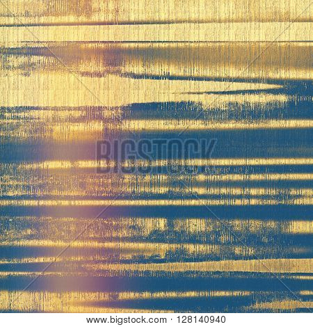 Old style design, textured grunge background with different color patterns: yellow (beige); brown; gray; blue; purple (violet); pink