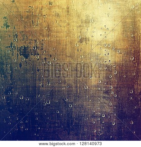 Old-style dirty background with textured vintage elements and different color patterns: yellow (beige); brown; gray; blue; purple (violet)