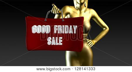 Good Friday Sale or Sales as a Special Event 3D Illustration Render