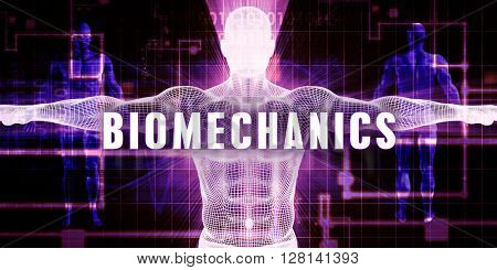 Biomechanics as a Digital Technology Medical Concept Art 3D Illustration Render