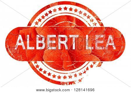 albert lea, vintage old stamp with rough lines and edges