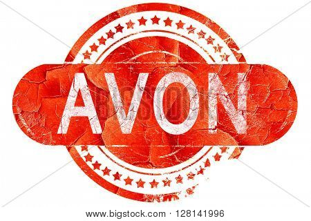 avon, vintage old stamp with rough lines and edges