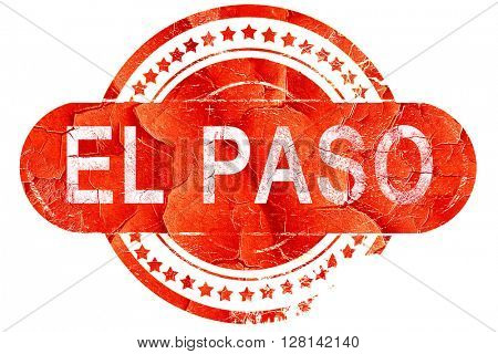 el paso, vintage old stamp with rough lines and edges