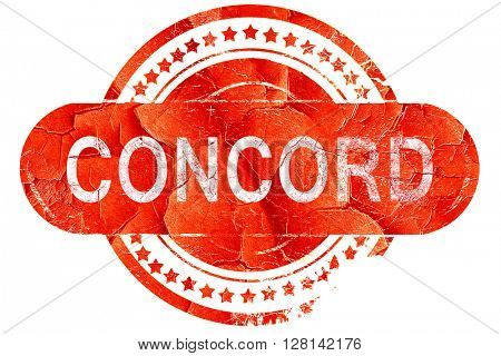 concord, vintage old stamp with rough lines and edges