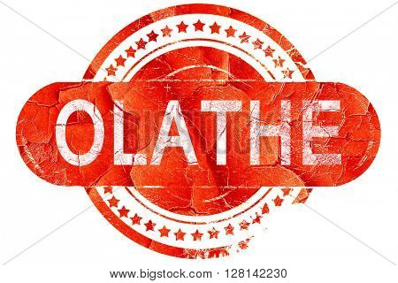 olathe, vintage old stamp with rough lines and edges