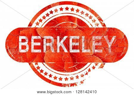 berkeley, vintage old stamp with rough lines and edges