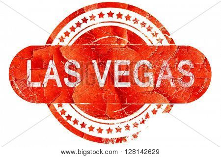 las vegas, vintage old stamp with rough lines and edges