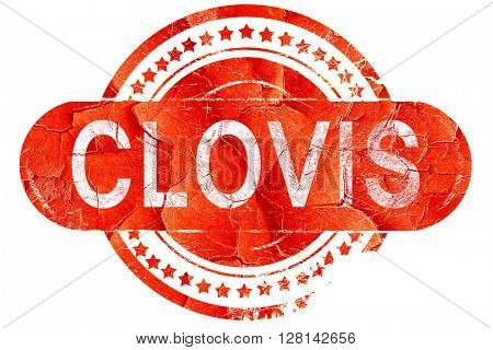 clovis, vintage old stamp with rough lines and edges