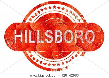 hillsboro, vintage old stamp with rough lines and edges