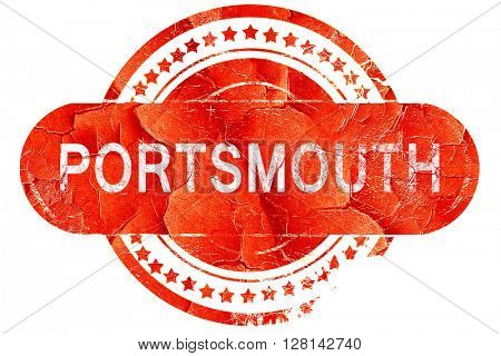 portsmouth, vintage old stamp with rough lines and edges