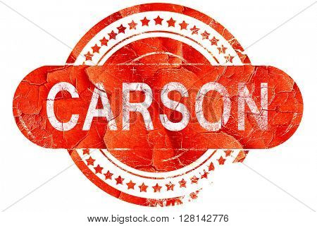 carson, vintage old stamp with rough lines and edges