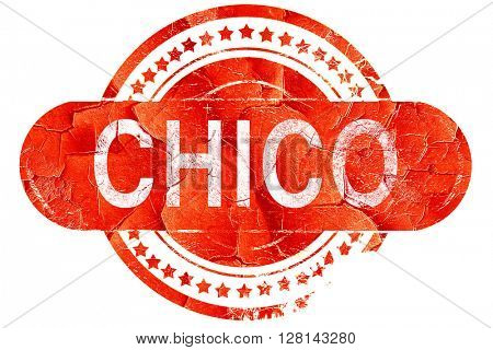 chico, vintage old stamp with rough lines and edges