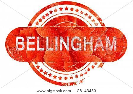 bellingham, vintage old stamp with rough lines and edges