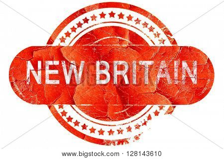 new britain, vintage old stamp with rough lines and edges