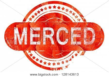 merced, vintage old stamp with rough lines and edges