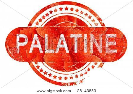 palatine, vintage old stamp with rough lines and edges